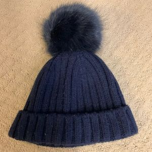 JCrew Giant Pom Pom Hat